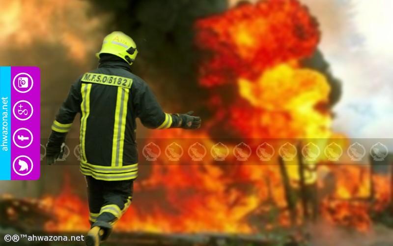 حريق ينشب بحي صناعي في آذربيجان والأسباب غامضة