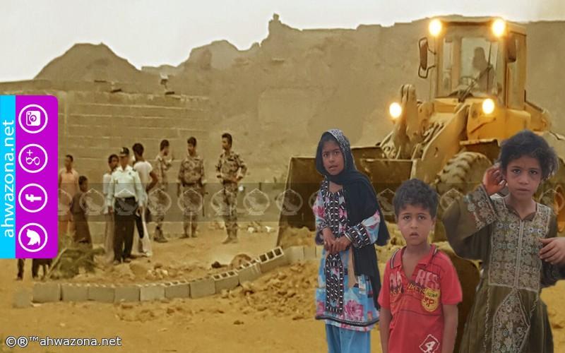 هدم بيوت المواطنين في إقليم بلوشستان بحماية سلاح الحرس الثوري