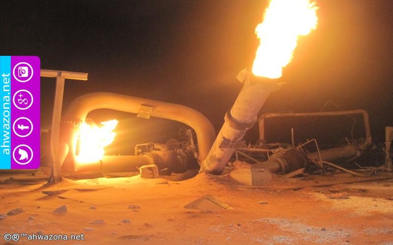 المقاومة الشعبية تستهدف أنابيب النفط شرقي الأحواز العاصمة