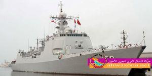 سفن حربية صينة تصل الى ميناء جمبرون الأحوازي المحتل