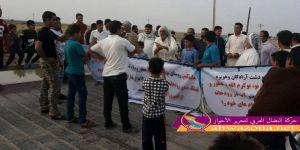احتجاجات واسعة للمزارعين في مدينتي السوس والحويزة