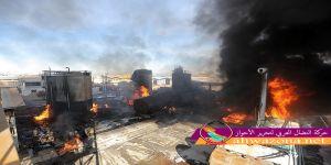 بالفيديو - النيران تلتهم أحد أكبر المصانع في المدينة الصناعية التابعة لمدينة قم الإيرانية