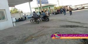 احتجاجات عمالية تشهدها مدينة القنيطرة شمالي الأحواز