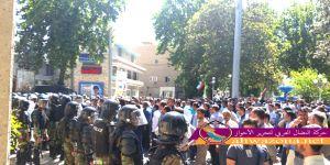 بالفيديو - اشتباك المتظاهرين مع قوات الأمن الفارسي في مدينة القنيطرة