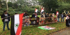 الأحوازيين في ألمانيا يتظاهرون تضامنا مع الأسرى في سجون الاحتلال الفارسي