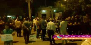 إحتجاح المئآت من الأحوازيين أمام المحافظية في مدينة الأحواز العاصمة