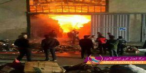 مجموعة أحوازية تضرم النار في أحد مؤسسات الاحتلال شمال الأحواز