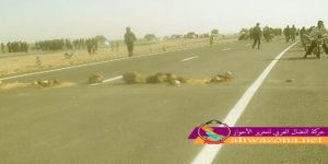 إحتجاجات شعبية تقطع الطريق الرئيسي بين مدينة العميدية وسيد جري