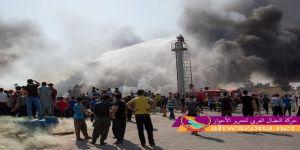 تظاهر المئآت من العمال الأحوازيين في مدينة عسلوية