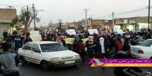 عاجل: مظاهرات شعبية حاشدة تجوب شوارع الأحواز العاصمة
