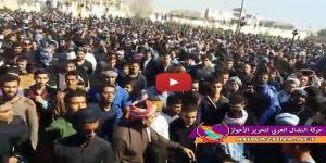 هتافات أحوازية تجدد العهد مع القائد الشهيد احمد مولى