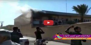 بالفيديو: حرق مكتب رئيس بلدية مدينة الفلاحية