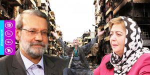 لاريجاني يرحب بهدية خلف عباس ويسخر من 'بعض' دول المنطقة