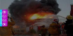 بالفيديو - إنفجار شديد يهز منشآت نفطية في مدينة عسلوية الأحوازية