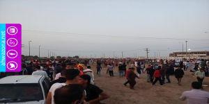 بالفيديو - قوات الإحتلال الإيراني تشتبك مع مشجعي نادي فولاذ وتعتقل العشرات