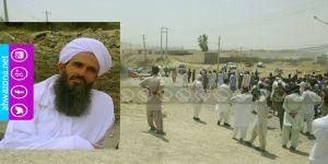 مظاهرات في بلوشستان بسبب إعتقال أحد مشايخ أهل السنة