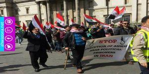 الأحوازيون يجوبون شوارع لندن تنديدا بإحتلال الإيراني للأحواز