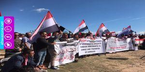 مظاهراة الجالية الأحوازية في استراليا أمام وكر الإحتلال الفارسي