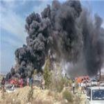 حريق ينشب في مكتبة إدارة المشاريع في عسلوية